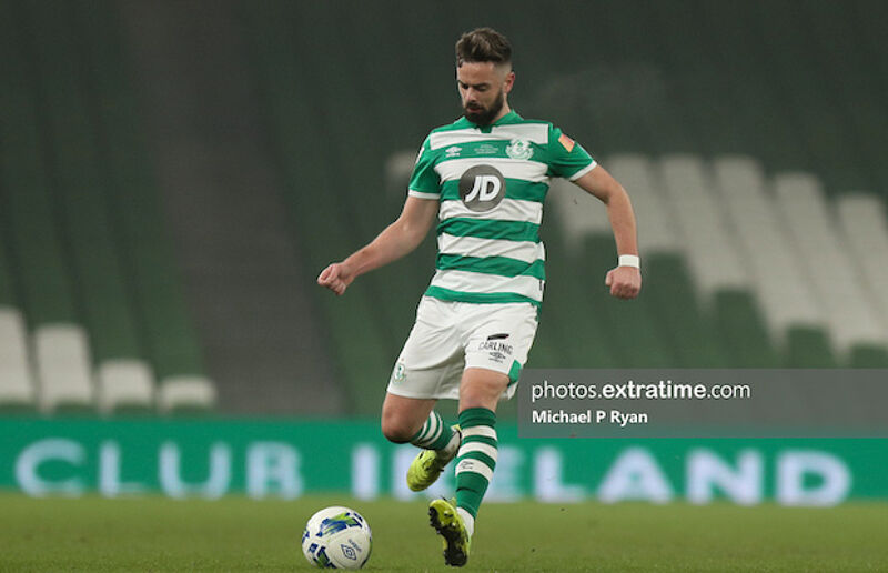 Greg Bolger in action in last Sunday's FAI Cup Final