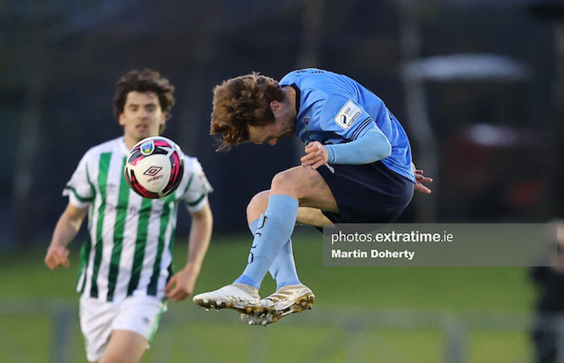 Action from the UCD Bowl during Friday's scoreless draw