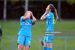 Katie Malone of DLR Waves FC and Shauna Carroll of DLR Waves FC reaction after seeing the ball fly over