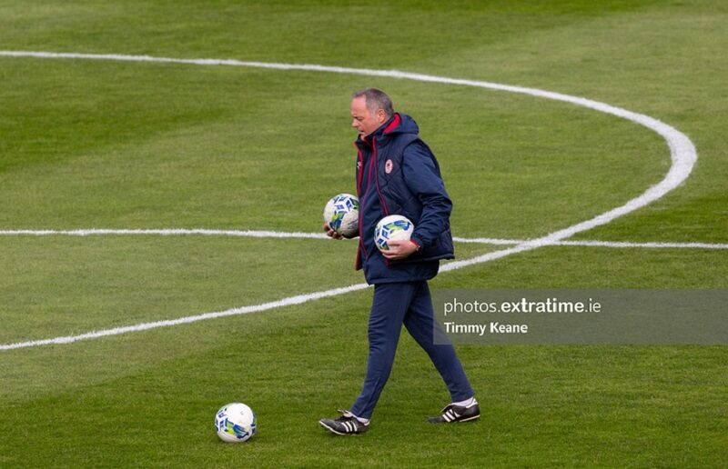 St Patrick's Athletic first-team manager Alan Mathews photographed ahead of the 2-1 win over Drogheda United at Richmond Park on March 27th, 2021.