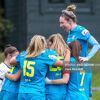 Jess Gleeson rights highest as DLR Waves celebrate the winner over Bohs