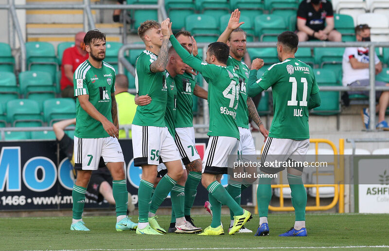 Levadia Tallinn had the ball in the Dundalk net after just two minutes.