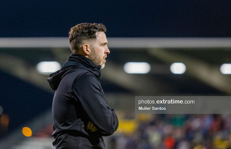 Stephen Bradley watching on from the sidelines during his team's 2-0 win over Waterford on Friday