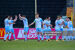 Drogheda celebrate one of their four goals from Saturday evening