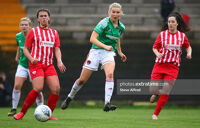 Eabha O'Mahony of Cork City in action during City's 2-0 FAI Cup semi-final win over Treaty United on August 11th, 2020.