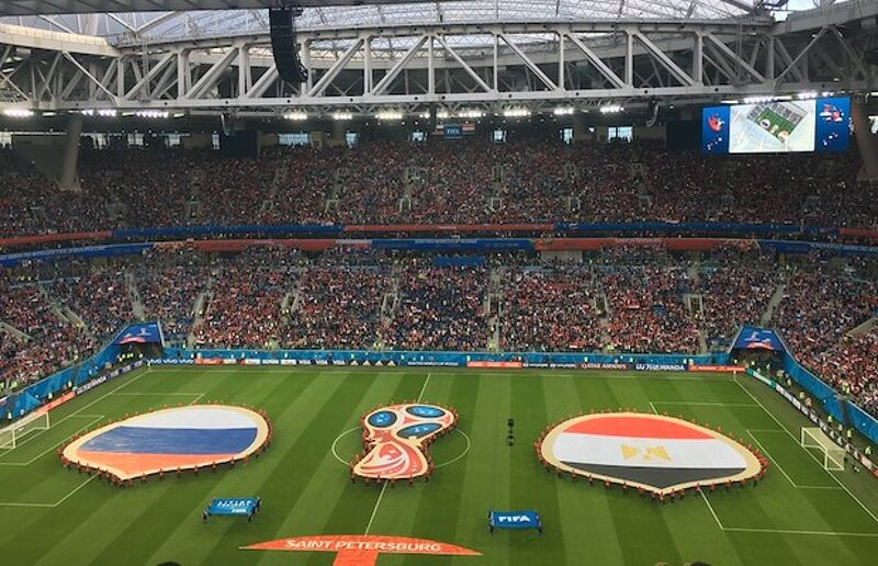 Russia will play two of their group games in the St. Petersburg Stadium