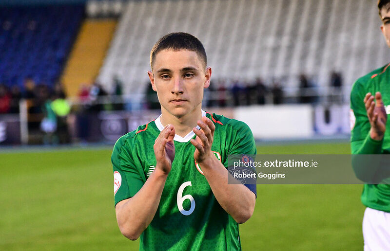 Joe Hodge pictured before Ireland's under-17 European Championships tie with the Czech Republic on May 6th, 2019.