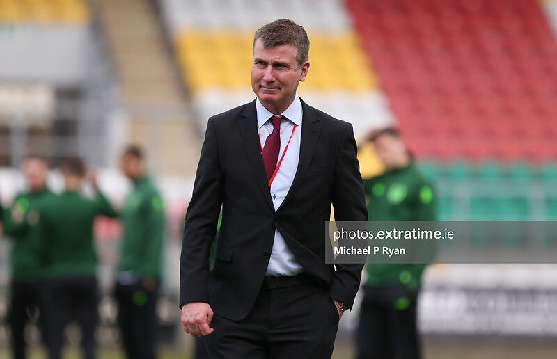 Stephen Kenny pictured in advance of his first game as Republic of Ireland under-21 manager, against Luxembourg, in March 2019.