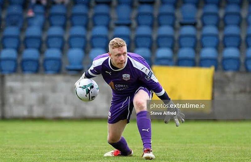 Galway United goalkeeper Kevin Horgan in action against Cobh Ramblers.