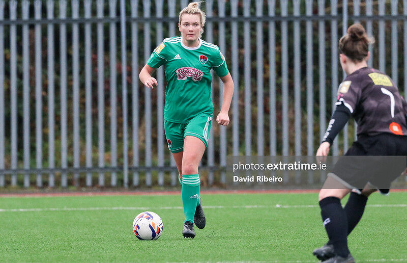 Saoirse Soonan of Cork City in action against Wexford Youths.