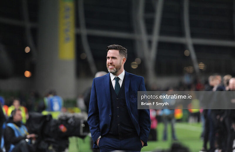 Stephen Bradley after Rovers' FAI Cup win in 2019