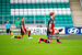 Hugh Douglas takes the knee in Tallaght Stadium in Drogheda's game against Rovers II in the First Division last season