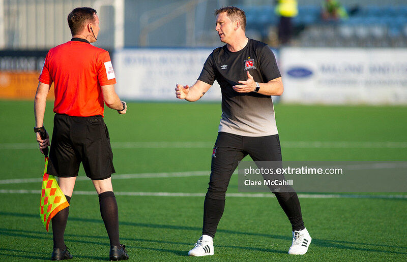 Vinny Perth is back in the hot seat at Oriel Park.