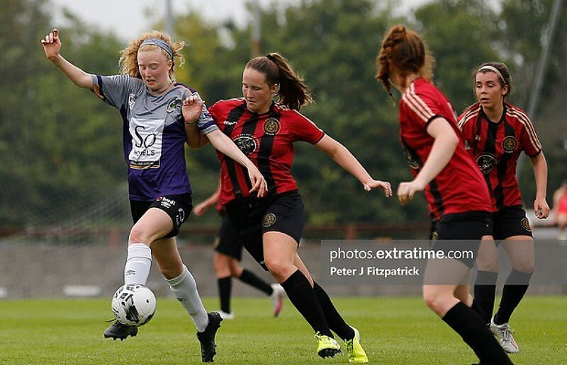 Bohemians in action against Galway in a league game on August 16th, 2020.