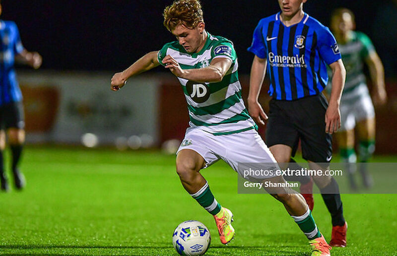 Kevin Zefi in action for Shamrock Rovers II against Athlone Town