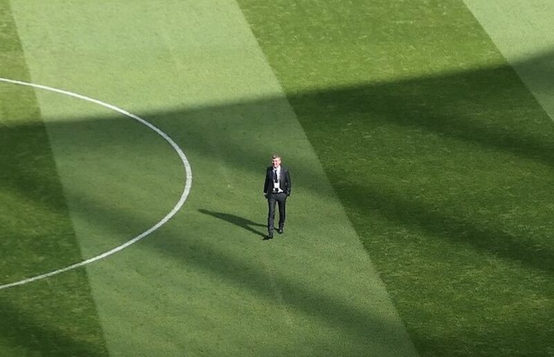 Stephen Kenny in the Aviva Stadium ahead of his first home game in charge of the Republic of Ireland
