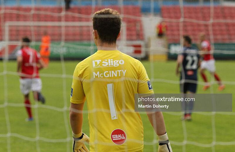 Sligo Rovers 'keeper Ed McGinty in Richmond Park last season