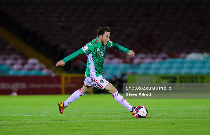Cory Galvin in action for Cork City during a 2-1 victory over Cobh Ramblers at Turner's Cross on March 26, 2021.
