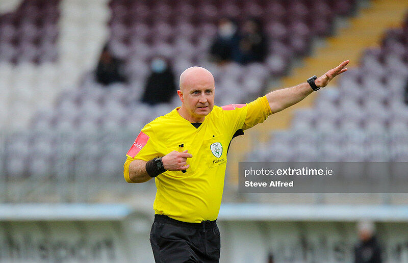 Referee Joe Hession takes charge of Galway and Cork in the WNL last weekend.