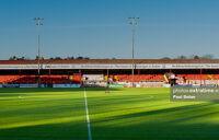 Tolka Park in the early evening April sunshine