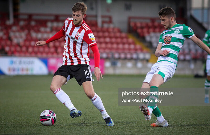 Will Patching playing against Shamrock Rovers earlier this season