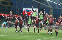 Bohs players celebrate their victory over Dudelange.