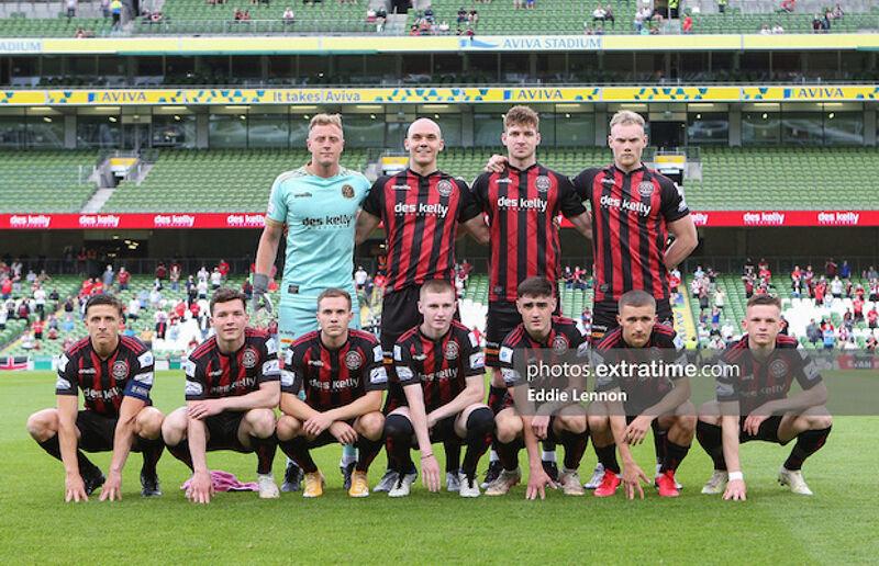 Bohs team ahead of kick-off in the second leg against Stjarnan