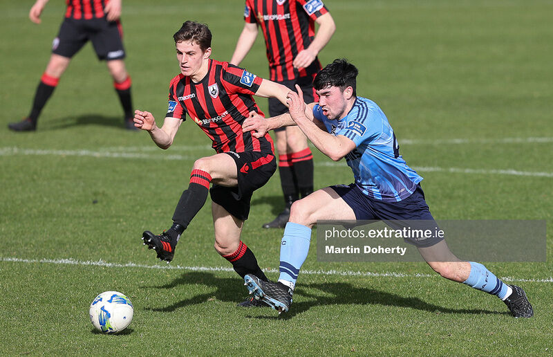 Action from UCD's victory over Longford Town this afternoon.