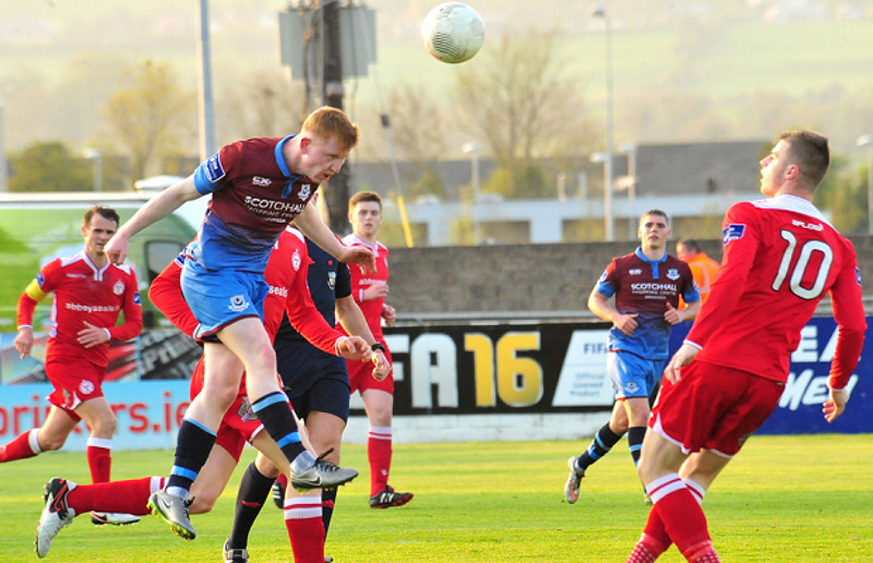 Aaron Molloy in action for Drogheda United during a First Division encounter with Shelbourne in 2016
