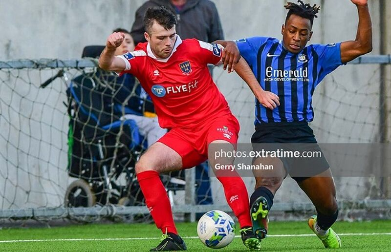 Alex O'Hanlon (left) in action
