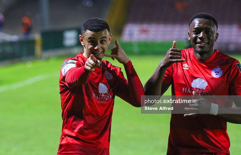 Yousef Mahdy celebrating scoring against Cork City