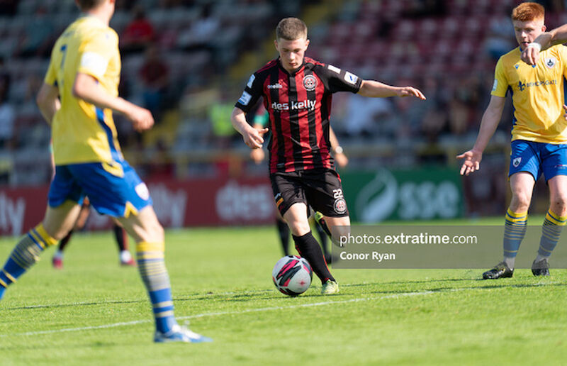 Jamie Mullins' goal made him Bohs' youngest ever scorer in the League of Ireland