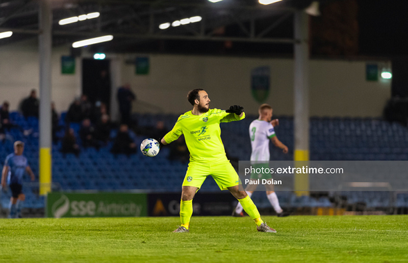 Corey Chambers in action for Cabinteely during a 5-1 loss to UCD in October 2020.