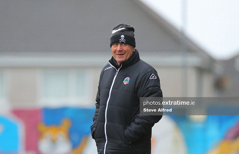Galway WFC coach Dave Bell as Galway draw 3-3 with Cork City in the WNL, March 27 2021.