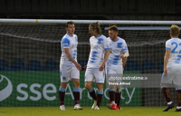 Padraic Cunningham and teammates celebrate Galway United's fourth goal against Cobh Ramblers at St Colman's Park on Saturday, 1 May 2021.