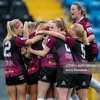 Galway WFC celebrate Anna Fahey's winning goal during their 2-1 win over Athlone Town at Athlone Town Stadium on Tuesday, 3 August 2021.