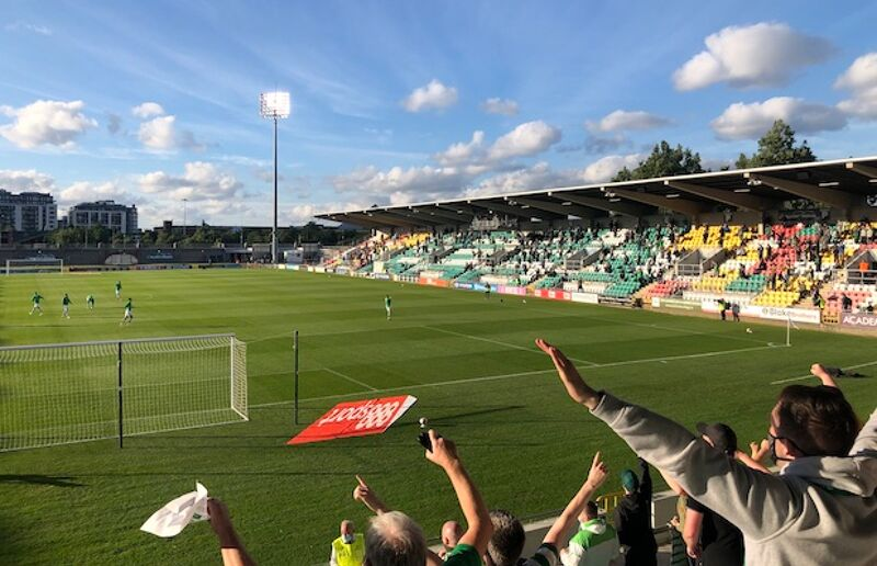 Supporters returned to Tallaght Stadium on Friday night
