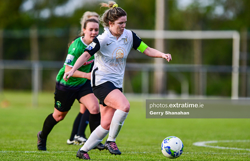 Laurie Ryan in action for Athlone Town during their 6-0 loss to Peamount United in the WNL on Saturday. 8 May 2021.