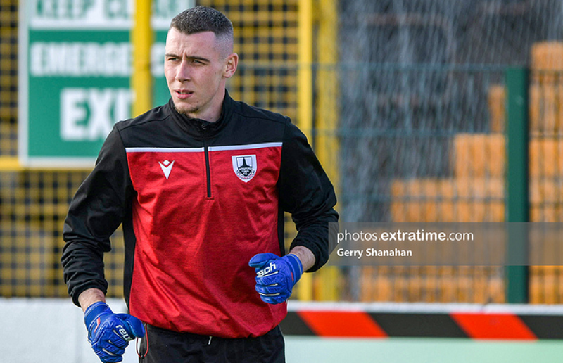 Luke Dennison before Longford Town's game against Waterford at Bishopsgate on Monday, 21 June 2021.