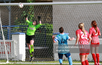 Michaela Mitchell in action for Treaty United against Shelbourne during the 2020 WNL season.