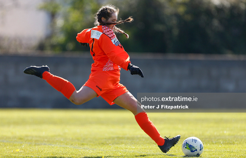 Niamh Coombes in action for Bohemians during their 3-3 draw with Cork City on Saturday, 17 April 2021 at the Oscar Traynor Centre.