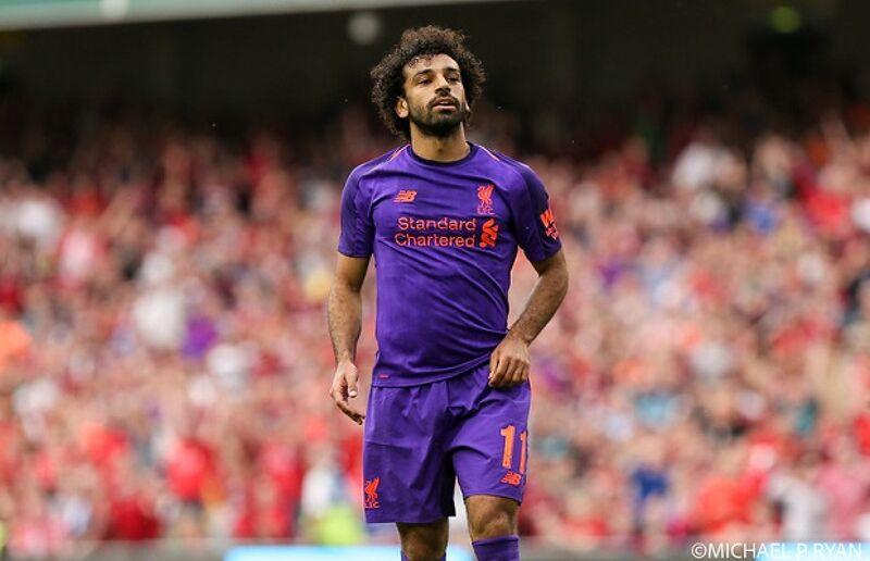 Mohamed Salah in action for Liverpool during a friendly with Napoli at the Aviva Stadium on Saturday, August 4th, 2018.