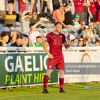 Stephen Walsh gets set to take a throw in during Galway United's 0-0 draw with Bray Wanderers at the Carlisle Grounds in July 2021.