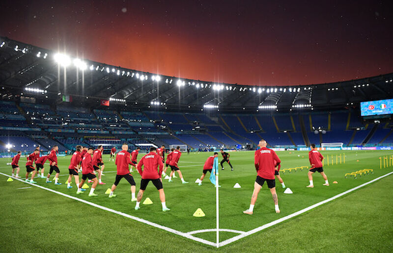 Turkey train at the Stadia Olympic on the eve of Euro 2020 kick off