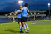 Colm Whelan & Liam Kerrigan celebrate UCD's second goal during their 5-2 win over Cabinteely at the UCD Bowl on Friday, 10 September 2021.