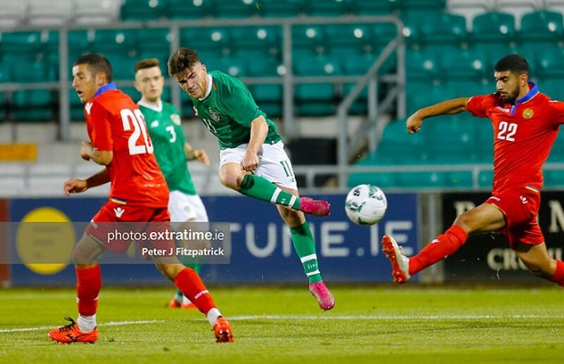 Aaron Connolly in action against Armenia